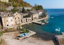 рыбацкий поселок Хорватии Стоковые Фото