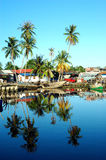 рыбацкий поселок Стоковое фото RF