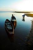 рыбацкий поселок Стоковые Изображения RF