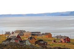 Рыбацкий поселок Hamningberg, северная Норвегия, Европа Стоковые Фотографии RF