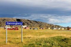 Рыбацкий поселок Hamningberg, северная Норвегия, Европа Стоковая Фотография RF