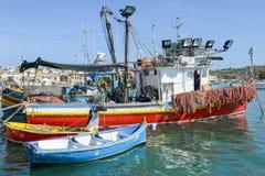 Рыбацкий поселок Marsaxlokk на острове Мальты Стоковое Изображение RF