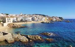 Рыбацкий поселок Palafrugell на Каталонии, Испании Стоковое фото RF