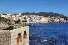 Рыбацкий поселок Palafrugell на Каталонии, Испании Стоковые Фотографии RF