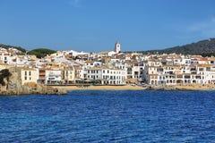 Рыбацкий поселок Palafrugell на Каталонии, Испании Стоковая Фотография