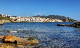 Рыбацкий поселок Palafrugell на Каталонии, Испании Стоковые Фото