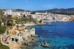 Рыбацкий поселок Palafrugell на Каталонии, Испании Стоковое Изображение