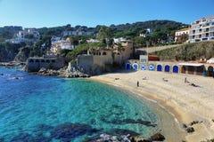 Рыбацкий поселок Palafrugell на Каталонии, Испании Стоковые Изображения RF