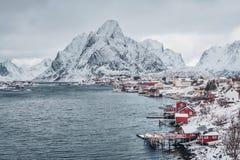 Рыбацкий поселок Reine, Норвегия стоковое фото