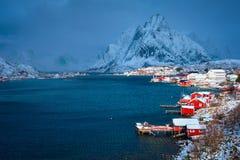 Рыбацкий поселок Reine, Норвегия стоковое изображение rf