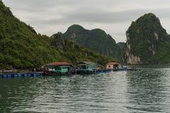 Рыбацкий поселок на воде Стоковая Фотография