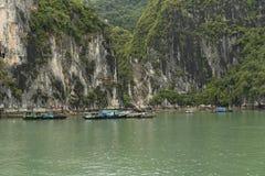 Рыбацкий поселок на воде Стоковые Изображения