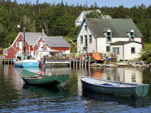 Рыбацкий поселок северо-западной бухточки, Новой Шотландии Стоковое Изображение
