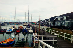 Рыбацкий поселок стоковая фотография rf