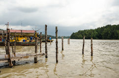Рыбацкий поселок Kuala Sepetang, Taiping, Малайзия - Стоковое Изображение