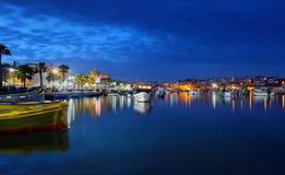 Рыбацкий поселок Marsaxlokk, Мальта Стоковые Фотографии RF