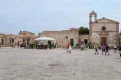Рыбацкий поселок Marzamemi малый в юговосточных Сицилии - Италии Стоковая Фотография