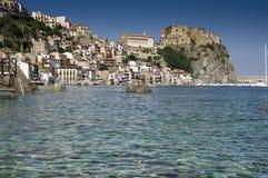 Рыбацкий поселок Scilla итальянский Калабрии Стоковое Фото