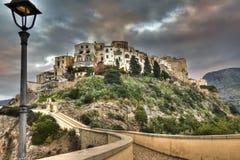 Рыбацкий поселок Sperlonga старый итальянский Стоковые Фото