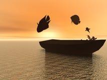Рыбалка иллюстрация штока