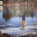 Рыбная ловля весны стоковая фотография rf