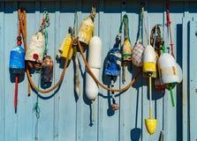 Рыбная ловля ставит бакены ассортимент Стоковое Изображение RF