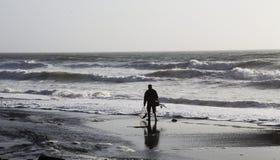 Рыбная ловля человека на Сан-Франциско Стоковая Фотография RF