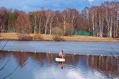Рыбная ловля весны. Стоковые Изображения RF