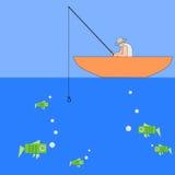 Рыбная ловля денег Стоковые Фото
