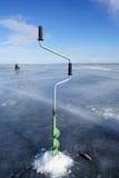 Рыбная ловля зимы Стоковое Изображение RF