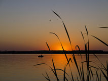 Рыбная ловля ночи Стоковые Изображения