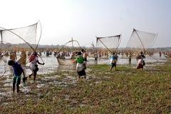 Рыбная ловля общины Стоковое фото RF