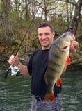 Рыбная ловля окуня Стоковое Изображение