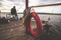 Рыбная ловля осени в России, Стоковое Изображение