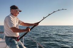 Рыбная ловля рыболова Стоковое фото RF