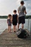 Рыбная ловля семьи Стоковое Изображение RF