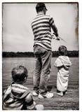 Рыбная ловля семьи Стоковые Изображения
