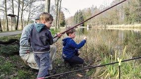 Рыбная ловля семьи Стоковое фото RF