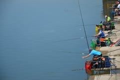 Рыбная ловля спорта озера Modrac Стоковое Изображение RF