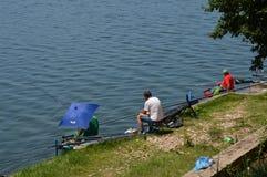 Рыбная ловля спорта озера Modrac Стоковые Изображения RF