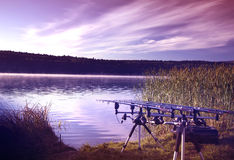 Рыбная ловля утра Стоковое Изображение RF
