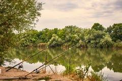 Рыбная ловля утра Стоковая Фотография