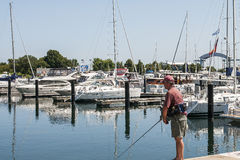 Рыбная ловля человека Стоковые Фото
