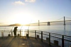 Рыбная ловля San Francisco Bay Стоковое Изображение