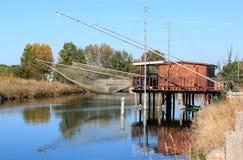Рыбная промышленность в итальянском перепаде Po Стоковое фото RF