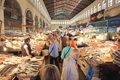 Рыбный базар Афины Стоковое Фото