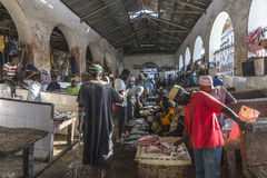 Рыбный базар в каменном городке Стоковое Изображение
