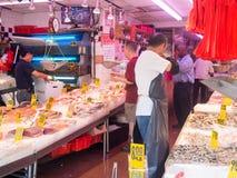 Рыбный базар на Чайна-тауне в Нью-Йорке Стоковое Фото
