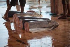 рыбный базар Рыбы на том основании Стоковые Фотографии RF