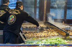 Рыбный базар Стамбула Стоковая Фотография